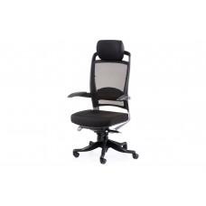Кресло руководителя  Fulkrum black fabric, black mеsh Е0611 Special4You