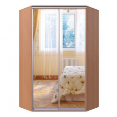 Угловой шкаф-купе двухдверный зеркальный Гарант