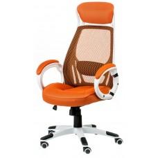 Кресло руководителя Briz orange/white E0895 Special4You