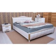 """Кровать деревянная с мягкой обивкой-квадраты """"Прованс"""" Олимп"""