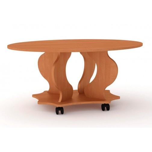 """Журнальный стол """"Венеция"""" Компанит (овальный кофейный столик на колесах)"""