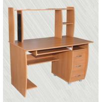 Компьютерный стол С 5 Альфа мебель (прямой с надстройкой)