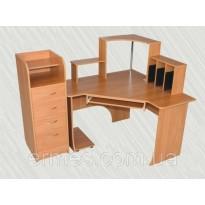 """Комп'ютерний стіл """"Консул"""" Альфа (кутовий з надбудовою)"""