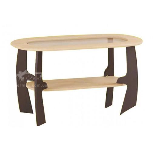 """Журнальний столик """"М3"""" Альфа (зі скляною вставкою)"""