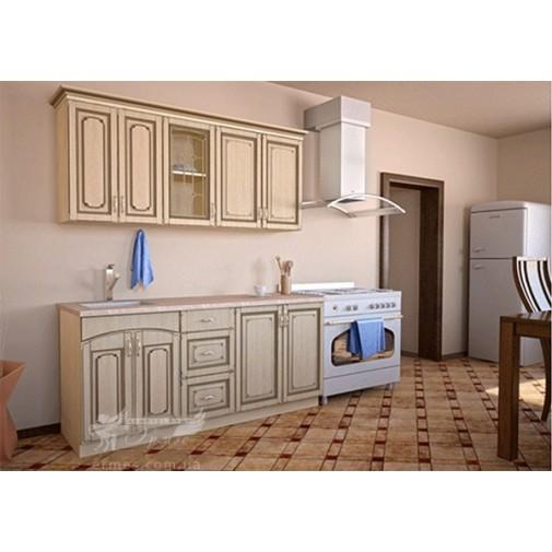 Кухня наборная МДФ патина №1 Альфа-мебель (кухонный модульный гарнитур)