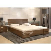 Кровать Дали Люкс с подъемным механизмом бук Арбор Древ (деревянная с коробом для хранения)