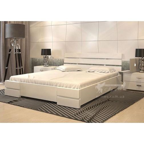 Кровать Дали Люкс бук Арбор Древ (белая деревянная)