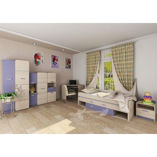 """Детская модульная система с двойной кроватью """"Jasmine 2"""" Blonski"""