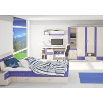 """Детская модульная система с кроватью """"Axel"""" Blonski (мебельный гарнитур)"""