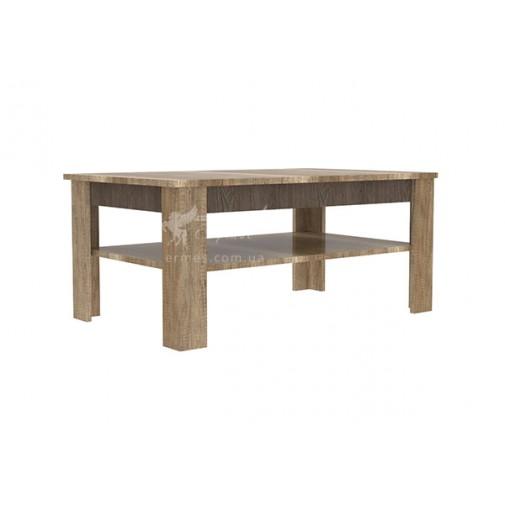 Журнальный стол  Teano Q Blonski (кофейный столик с полкой)