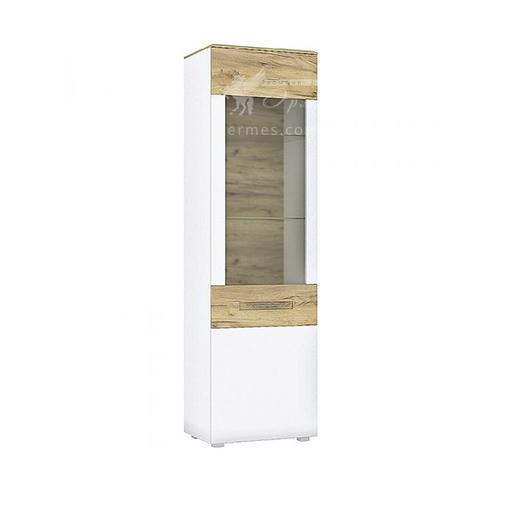 Пенал Camilla G Blonski (высокий белый со стеклянной дверцей)