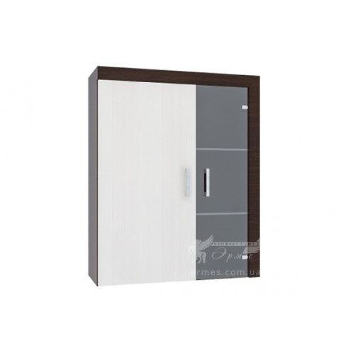 Полка Porto 4 Blonski (широкая, со стеклянными элементами)