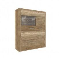Вітрина Sales T23R Blonski (низька з орнімі дверцята)