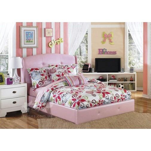 """Ліжко дитяче """"Попелюшка"""" з підйомнім механізмом Corners (м'яке ліжко в дитячу)"""