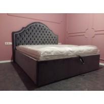 """Кровать """"Катрин"""" с  подъемным механизмом Corners (мягкая с местом для хранения)"""