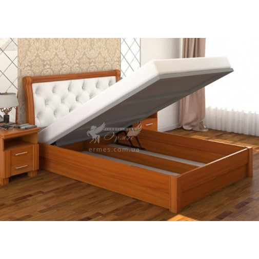 """Кровать """"Милена"""" Дерево с подъемным механизмом  DA-KAS (деревянная с коробом для вещей)"""