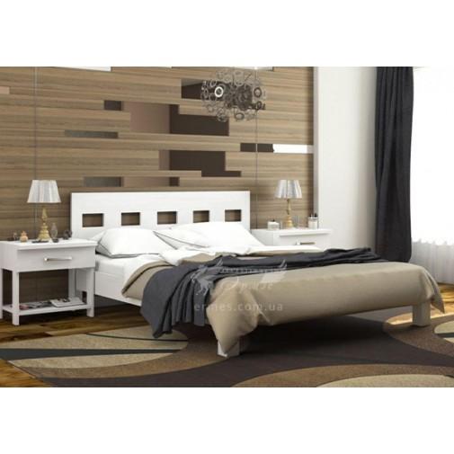 """Ліжко """"Діана"""" з підйомним механізмом DA-KAS (дерев'яне ліжко з дуба)"""