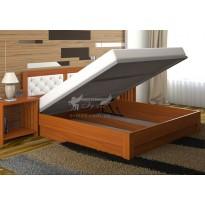 """Кровать """"Диана Люкс"""" с подъемным механизмом  DA-KAS (деревянная, с коробом для хранения)"""