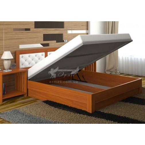 """Ліжко """"Діана Люкс"""" з підйомним механізмом DA-KAS (дерев'яне, з коробом для зберігання)"""