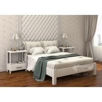 """Кровать """"Подиум """" DA-KAS (деревянная кровать с мягким изголовьем)"""