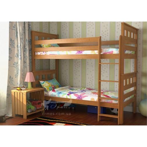 """Двухъярусная кровать """"Жасмин Шале""""  DA-KAS (двухуровневая деревянная кровать)"""