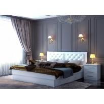 """Кровать """"Комфорт"""" DA-KAS (деревянная к мягким стеганным изголовьем)"""