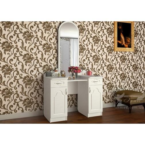 """Трюмо """"Анна"""" DA-KAS (білий туалетний столик з дзеркалом)"""