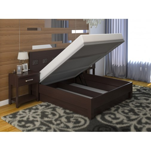 """Кровать """"Диана Микс"""" с подъемным механизмом DA-KAS (деревянная кровать с коробом)"""