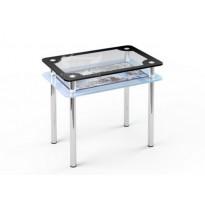 Стол обеденный S4 ESCADO (стеклянный прямоугольный стол с дополнительной полкой)