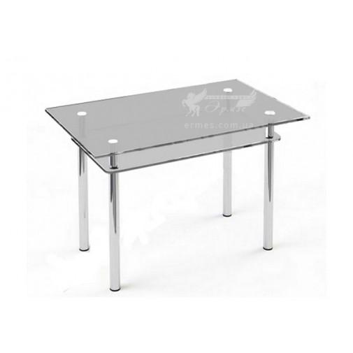 Стол обеденный S6 ESCADO (стеклянный на хромированных опорах)