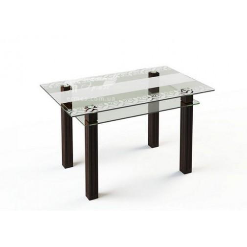 Стол обеденный SW6 ESCADO (стеклянный с деревянными ножками)