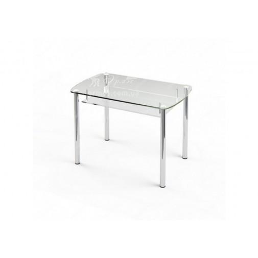 Стол обеденный S7 ESCADO (стеклянный на хромированных ножках)