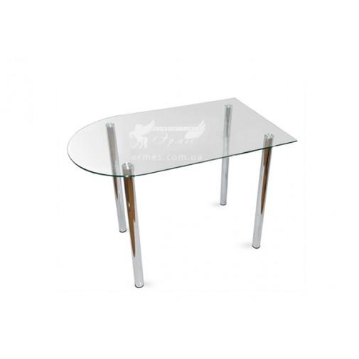 Стол обеденный А4 ESCADO (стеклянный закругленный)