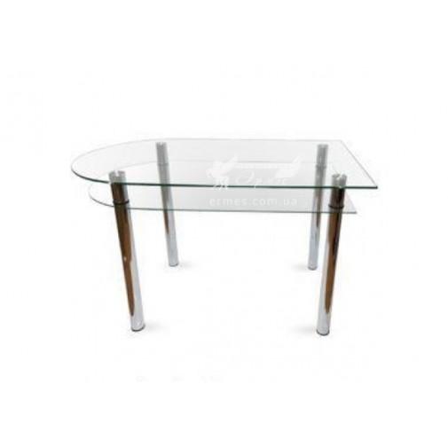 Стол обеденный А6 ESCADO (стеклянный на хромированном основании)
