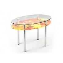 Стол обеденный 02 ESCADO (стеклянный с дополнительной столешницей)