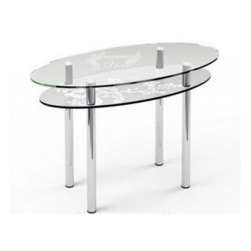 Стол обеденный 03 ESCADO (стеклянный с овальной столешницей)