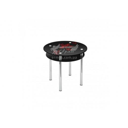 Стол обеденный R4 ESCADO (стеклянный, круглый с дополнительной столешницей)