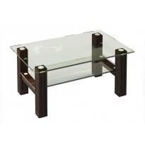 Журнальный столик JTW 002 ESCADO (стеклянный с дополнительной полкой)