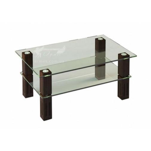 Журнальный столик JTW 003 ESCADO (стеклянный с полкой)