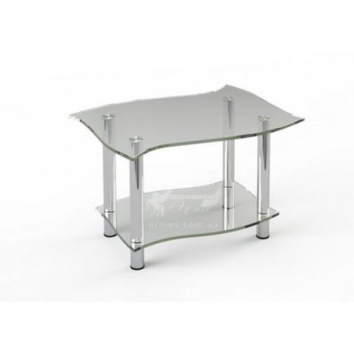 Журнальный столик JTI 001 ESCADO (стеклянный на хромированном основании)