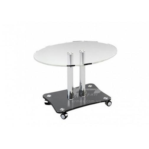 Журнальный столик JTO 001 ESCADO (стеклянный на колесиках)
