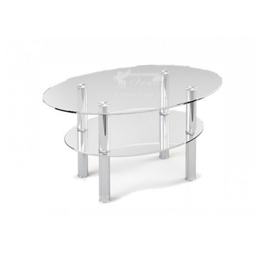 Журнальный столик JTO 002 ESCADO (стеклянный овальной формы)
