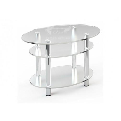 Журнальний столик JTO 004 ESCADO (скляний з додатковими пололицями)
