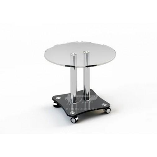 Журнальный столик JTR 001 ESCADO (стеклянный на колесиках)