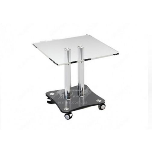 Журнальний столик JTS 009 ESCADO (невеликий, скляний на коліщатках)