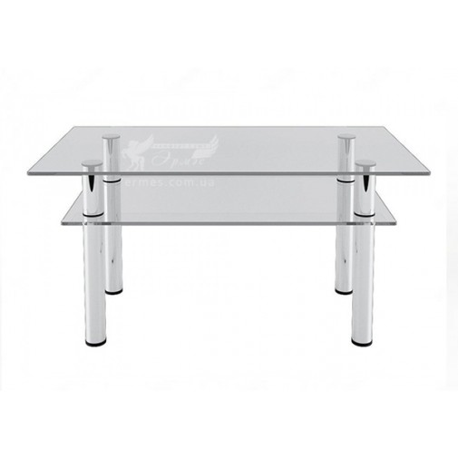 Журнальный столик JTS 012 ESCADO (стеклянный на хромированной основе)