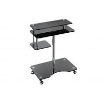Компьютерный стол Р-1 ESCADO (стеклянный на колесиках)