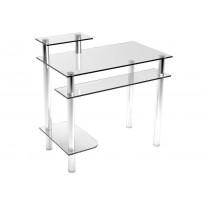 Компьютерный стол Р-4 ESCADO (стеклянный с хромированными ножками)