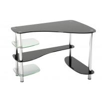 Компьютерный стол Р-7 ESCADO (стеклянный с хромированными опорами)