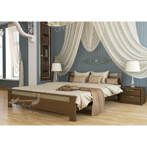"""Ліжко """"Афіна"""" Масив Естелла (дерев'яне ліжко з елементами декору)"""